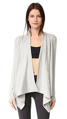Beyond Yoga Cozy Fleece Wrap Sweatshirt In Heather Grey Drape Cardigan, Sweater Skirt, Yoga Fashion, Yoga Wear, Workout Pants, Beachwear, Heather Grey, Sweatshirts, Hoodies