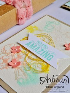 Stamp 2 Linnet: Video Techniques oh oh - Stampin'Up! Artisan Blog Hop - February # 3