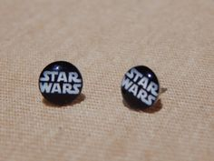 Star Wars Earrings, Star Wars Stud Earrings, Glass Dome Earrings, Starwars Earrings, Darth Vader, Star Wars Jewelry, Galactic Empire by VetroJewelryDesigns on Etsy