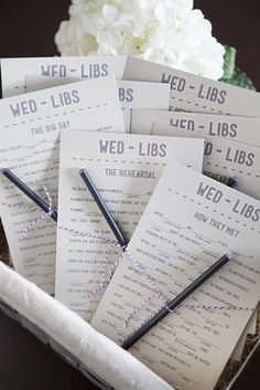 wedding Mad Libs for bridal shower game