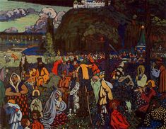 Wassily Kandinsky ~ The Colourful Life, 1907
