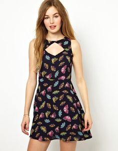 Poppy Lux Butterfly Print Dress at ASOS. Shop this season's must haves with multiple delivery and return options (Ts&Cs apply). Butterfly Print Dress, Butterfly Effect, Marine Uniform, Cute Dresses, Summer Dresses, Poppy, Asos, Latest Clothes, Fancy