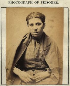 """Catherine Cain King: """"Catherine Cain King was convicted of stealing a pocket watch, she had previously served 7 days for drunken conduct, on this occasion she served 3 months with hard labour. Dark Brown Eyes, Brown And Grey, Dark Grey, Working Woman, Mug Shots, Trendy Hairstyles, Dark Hair, Vintage Photos, 19th Century"""