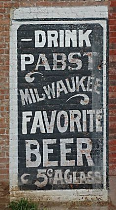 Pabst ghost sign, Ogden, Utah