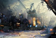 """Scraps Of The Untainted Sky"": The Epic Dystopian Artworks By Daniel Dociu – Design You Trust Environment Concept Art, Environment Design, Cyberpunk City, Cyberpunk 2077, Conceptual Drawing, Matte Painting, Science Fiction Art, Future City, City Art"