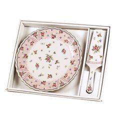 Hermoso plato para postres con diseño floral.