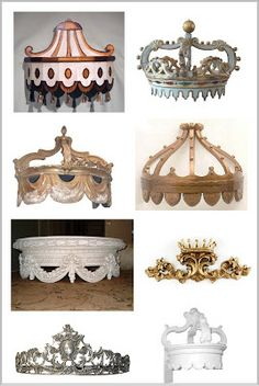 Sources for bed crowns (or coronas if you prefer ) Antique Drapery Rod Co Design Source Ltd Alhambra Antiques The Well Appointed House For Mercy Sake