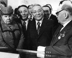Tsedenbal com Todor Zhivkov. Primeiro Secretário do Comité Central do Partido Comunista Búlgaro, Presidente da República Popular da Bulgária, o Conselho de Ministros. Junho de 1985.