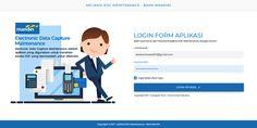 Login Design - EDC Maintenance Bank Mandiri