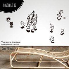 Vinilo decorativo para cuartos juveniles · Teclas de ordenador · Decoracion geek · #lokolokodecora