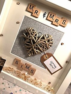 mr and mrs jackson handmade personalised scrabble memory frame
