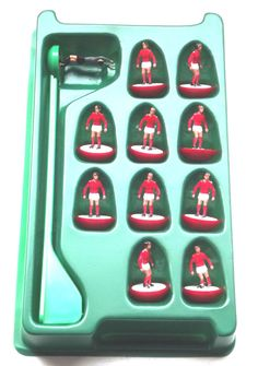 Vintage 1994 Subbuteo Tabletop Football Soccer, Red & white team - RARE by BunkysVintageCrafts on Etsy