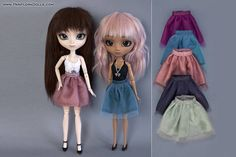 Tulle skirt top and necklace for Pullip Pure Neemo Azone