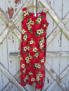90210ca152 Tropical delight - vintage 1980 s Hawaiian shift dress L XL Vintage  Hawaiian