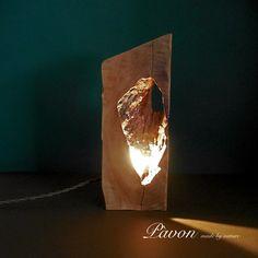 Lampada legno di pero