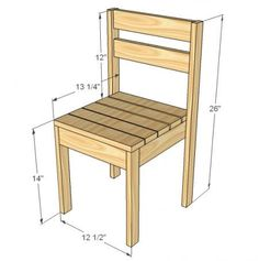 I want to make this!  DIY Furniture Plan from Ana-White.com  Stackable economical lightweight children's chairs.