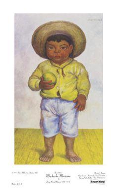 Muchacho Mexicano Diego Rivera Fine Art Print Poster