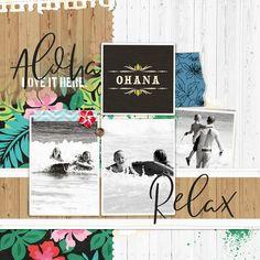 Aloha Beach Project Mouse (Paradise) – Scrapbook Kit and Journal Cards | Sahlin Studio | Digital Scrapbooking Designs