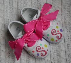 Girl's Custom Painted Tennis Shoes Sneakers -