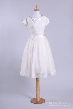 1950 Sweet Lace Vintage Wedding Dress