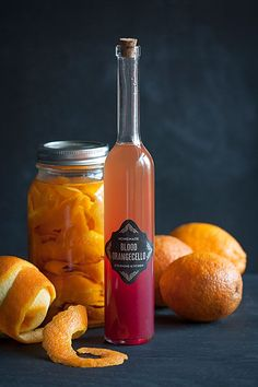 Homemade Blood Orangecello: A twist on limoncello, this digestif makes the most of one of the best fruits of winter. Party Drinks, Cocktail Drinks, Cocktail Recipes, Alcoholic Drinks, Beverages, Liquor Drinks, Bourbon Drinks, Margarita Recipes, Craft Cocktails