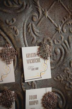 DIY Vintage Tin Ceiling Board on http://ruffledblog.com