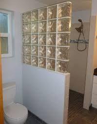 half wall shower design    an addition, some glass