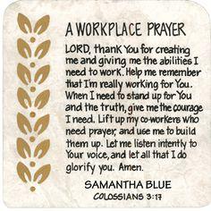 A Workplace Prayer