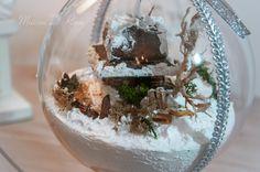 Scenki zimowe w bombkach