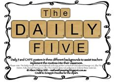 This is a pack containing all Daily 5 and CAFE posters in scrabble letters to help teachers implement the Daily 5 and CAFE routines into their clas. Daily Five Cafe, 5th Grade Ela, Second Grade, Daily 5 Reading, Cafe Posters, Word Study, Teaching Math, Maths, Reading Activities