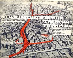 Robert Moses' proposal of the Lower Manhattan Expressway in 1961 that was blocked by Jane Jacobs' urban activism #urbanism #infrastructure