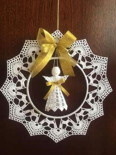 Best 12 Elegant Christmas decoration – snowflakes mobile – holiday decor – crochet snowflakes and wood – SkillOfKing. Crochet Snowflake Pattern, Vintage Crochet Patterns, Christmas Crochet Patterns, Holiday Crochet, Crochet Snowflakes, Crochet Doilies, Crochet Fairy, Crochet Angels, Christmas Angel Ornaments