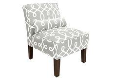Bergman Armless Chair, Cursive Smoke on OneKingsLane.com