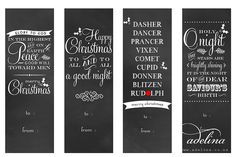 Free Printable Christmas Gift Tags / Bookmarks