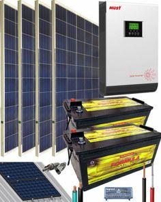 Kit Solar Instalacion Aislada 3000W 24V 5400Whdia Kit Solar, Solar Projects, Magazine Rack, Cool Stuff, Storage, House, Furniture, Home Decor, Painted Furniture