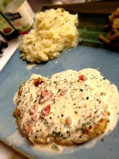 Herb Crusted Chicken in Basil Cream Sauce to DIE for!!! The sauce is good on it's own over pasta too! | fabulousfoodblog.comfabulousfoodblog.com