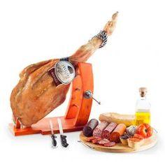 Set of Ham + Sausages + Support + Knife and Sharpener
