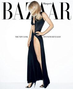 Gwyneth Paltrow on Bazaar - the way covers would be if they didn't live at the checkout counter
