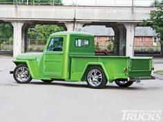 vintage Jeep trucks | 1950 Willys Jeep Pickup Truck Side Profile Shot