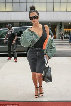 Hard at work! Kim hit the shops during her day off in the Big Apple