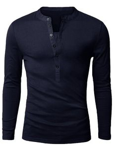 Men's Long-Sleeved 6 Button Casual Slim Fit Shirt - 6 Colors
