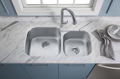 Fantastisch Kohler Undertone Preserve Double Stainless Steel Sink