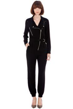 Dresses | Black ZIP BOILER JUMPSUIT | Warehouse