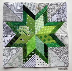 free paper pieced pattern  https://wombatquilts.files.wordpress.com/2014/01/wq-starry-night-block-11.pdf