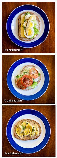 Veggie Sandwich Ideas: Cheesy Artichoke Melt Sandwich, Egg Sandwich, Cream Cheese and Sprout Sandwich Veggie Sandwich, Lunch Recipes, My Recipes, Sandwich Cream, Egg Sandwiches, Easy Cooking, Artichoke, Sprouts