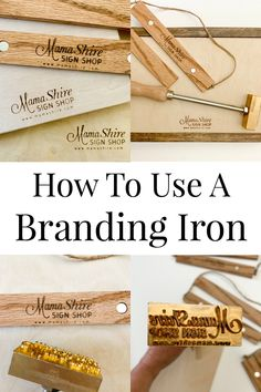 How to use a branding iron on wood. This is such an easy way to get your brand on your wood projects. Easy Small Wood Projects, Wood Projects For Beginners, Wood Turning Projects, Easy Woodworking Projects, Diy Pallet Projects, Woodworking Workshop, Woodworking Plans, Craft Projects, Craft Ideas