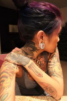 Girl with tattoos. #tattoo #tattoos #ink