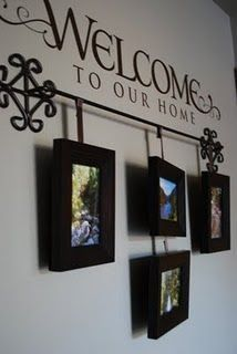 "cute....love this idea....I have some cute little frames from pottery barn that say ""Grandma and Me, Mom and Me, etc...I am totally finding a place for this idea and lettering above!"