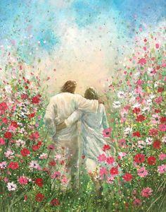 Christian Paintings, Christian Artwork, Images Of Christ, Pictures Of Jesus Christ, Arte Lds, Jesus Is Life, Jesus Painting, Painting Art, Prophetic Art