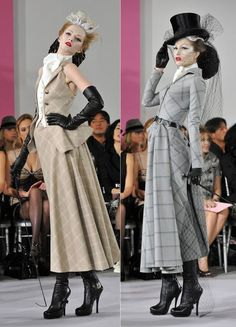 Equestrian glam - John Galliano for Christian Dior at the haute couture, spring/summer 2010 season in Paris John Galliano, Galliano Dior, Christian Dior, Style Couture, Haute Couture Fashion, Runway Fashion, High Fashion, Womens Fashion, Paris Fashion